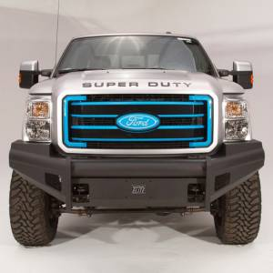 Fab Fours - Fab Fours FS08-Q1961-1 Black Steel Elite Smooth Front Bumper for Ford F250/F350 2008-2010 - Image 2