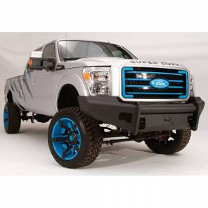 Fab Fours - Fab Fours FS08-Q1961-1 Black Steel Elite Smooth Front Bumper for Ford F250/F350 2008-2010 - Image 3