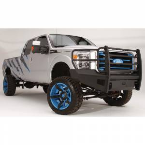 Fab Fours - Fab Fours FS11-Q2560-1 Black Steel Elite Smooth Front Bumper with Full Guard for Ford F250/F350/F450/F550 2011-2016 - Image 1