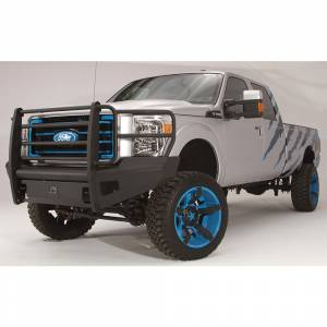 Fab Fours - Fab Fours FS11-Q2560-1 Black Steel Elite Smooth Front Bumper with Full Guard for Ford F250/F350/F450/F550 2011-2016 - Image 2