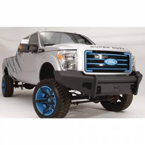 Fab Fours - Fab Fours FS11-Q2561-1 Black Steel Elite Smooth Front Bumper for Ford F250/F350/F450/F550 2011-2016 - Image 2