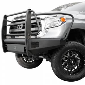 Fab Fours - Fab Fours TT07-R1860-1 Black Steel Elite Smooth Front Bumper with Full Guard for Toyota Tundra 2007-2013 - Image 2
