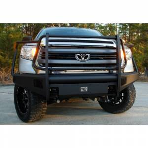 Fab Fours - Fab Fours TT07-R1860-1 Black Steel Elite Smooth Front Bumper with Full Guard for Toyota Tundra 2007-2013 - Image 3