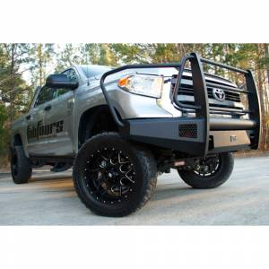 Fab Fours - Fab Fours TT07-R1860-1 Black Steel Elite Smooth Front Bumper with Full Guard for Toyota Tundra 2007-2013 - Image 4