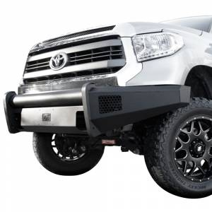 Fab Fours - Fab Fours TT07-R1861-1 Black Steel Elite Smooth Front Bumper for Toyota Tundra 2007-2013 - Image 2