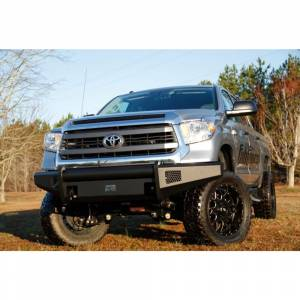 Fab Fours - Fab Fours TT07-R1861-1 Black Steel Elite Smooth Front Bumper for Toyota Tundra 2007-2013 - Image 3