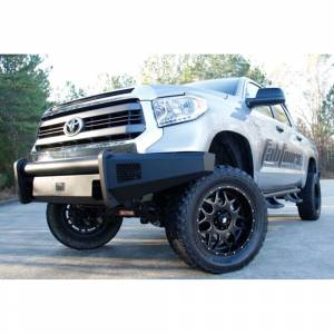 Fab Fours - Fab Fours TT07-R1861-1 Black Steel Elite Smooth Front Bumper for Toyota Tundra 2007-2013 - Image 4