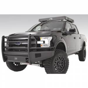 Fab Fours - Fab Fours FF15-R3250-1 Black Steel Elite Smooth Front Bumper with Full Guard for Ford F150 2015-2017 - Image 2