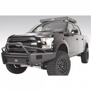 Fab Fours - Fab Fours FF15-R3252-1 Black Steel Elite Smooth Front Bumper with Pre-Runner Guard for Ford F150 2015-2017 - Image 2