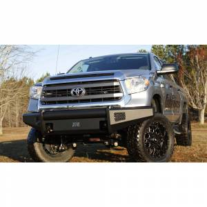 Toyota Tundra - Toyota Tundra 2014-2020 - Fab Fours - Fab Fours TT14-R2861-1 Black Steel Elite Smooth Front Bumper for Toyota Tundra 2014-2019