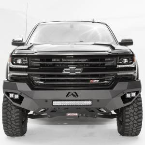 Fab Fours - Fab Fours CS16-D3851-1 Vengeance Front Bumper with Sensor Holes for Chevy Silverado 1500 2016-2018