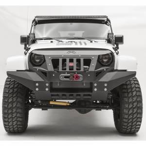 Jeep Wrangler JK - Fab Fours - Fab Fours GR1010-1 Grumper Full Width Front Bumper for Jeep Wrangler JK 2007-2018