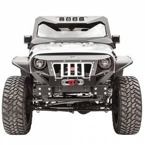 Jeep Bumpers - Fab Fours - Fab Fours - Fab Fours GR1000-1 Grumper Front Bumper for Jeep Wrangler JK 2007-2018