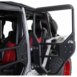Fab Fours - Fab Fours - Fab Fours JK1031-1 Rear Tube Door for Jeep Wrangler JK 2007-2018