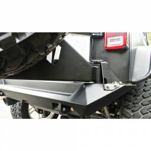 Exterior Accessories - Tire Carrier and Components - Fab Fours - Fab Fours JP-Y1261T-1 Off the Door Tire Carrier for Jeep Wrangler JK 2007-2018