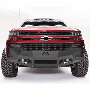 Fab Fours - Fab Fours CS19-D4051-1 Vengeance Front Bumper with Sensor Holes for Chevy Silverado 1500 2019-2020