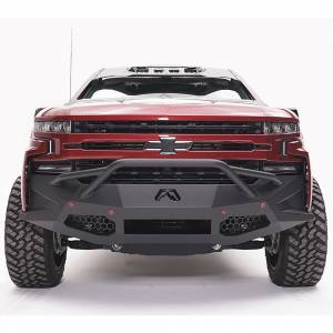 Fab Fours - Fab Fours CS19-D4052-1 Vengeance Front Bumper with Pre-Runner Guard and Sensor Holes for Chevy Silverado 1500 2019-2020
