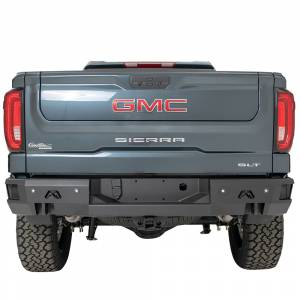 Fab Fours - Fab Fours CS19-W4050-1 Premium Rear Bumper with Sensor Holes for Chevy Silverado 1500 2019 - Image 1