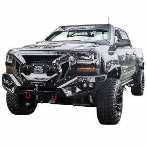 Fab Fours - Fab Fours GR3800-1 Grumper Front Bumper for Chevy Silverado 1500 2016-2018 - Image 2