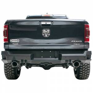 Fab Fours - Fab Fours DR19-W4251-1 Premium Rear Bumper with Sensor Holes for Dodge Ram 1500 2019-2020 New Body Style
