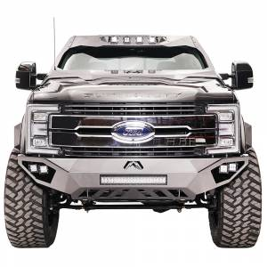 Fab Fours - Fab Fours FS17-V4162-1 Open Fender Front Bumper with Pre-Runner Guard for Ford F250/F350 2017-2020