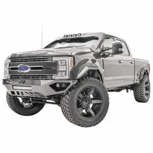 Fab Fours - Fab Fours FS17-V4162-1 Open Fender Front Bumper with Pre-Runner Guard for Ford F250/F350 2017-2020 - Image 2
