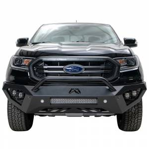Shop Bumpers By Vehicle - Ford Ranger - Fab Fours - Fab Fours FR19-D4852-1 Vengeance Front Bumper with Pre-Runner Guard and Sensor Holes for Ford Ranger 2019
