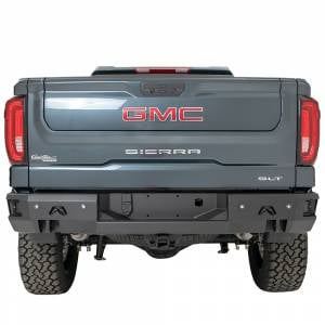 Fab Fours - Fab Fours CS19-W4051-1 Premium Rear Bumper with Blind Spot Monitor Mount and Sensor Holes for GMC Sierra 1500 2019 - Image 1