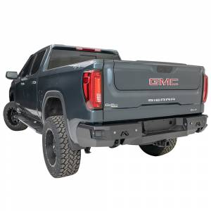 Fab Fours - Fab Fours CS19-W4051-1 Premium Rear Bumper with Blind Spot Monitor Mount and Sensor Holes for GMC Sierra 1500 2019 - Image 2