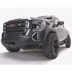 Fab Fours - Fab Fours GS19-D6051-1 Vengeance Front Bumper with Sensor Holes for GMC Sierra 1500 2019-2020 - Image 2