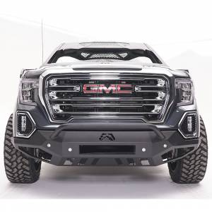 Fab Fours - Fab Fours GS19-D6052-1 Vengeance Front Bumper with Pre-Runner Guard and Sensor Holes for GMC Sierra 1500 2019-2020 - Image 1