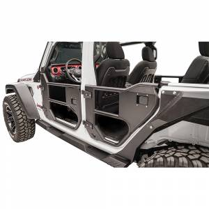 Fab Fours - Fab Fours JL1032-1 Front Half Tube Door for Jeep Gladiator JT 2018-2019 - Image 1