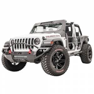 Fab Fours - Fab Fours JL18-D4652-1 Vengeance Front Bumper with Pre-Runner Guard and Sensor Holes for Jeep Gladiator JT 2018-2020 - Image 2