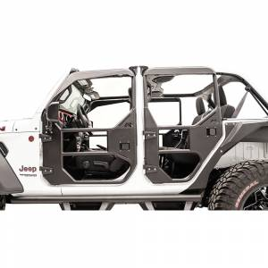 Fab Fours - Fab Fours JL1031-1 Rear Full Tube Door for Jeep Wrangler JL 2018-2020 - Image 3