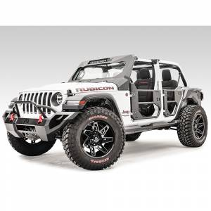 Fab Fours - Fab Fours JL1033-1 Rear Half Tube Door for Jeep Wrangler JL 2018-2020 - Image 4