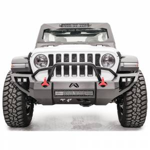 Fab Fours - Fab Fours JL18-D4652-1 Vengeance Front Bumper with Pre-Runner Guard and Sensor Holes for Jeep JL 2018-2020 - Image 1