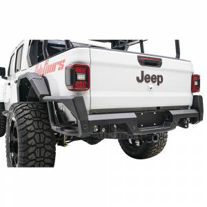Fab Fours - Fab Fours JT20-Y1950-1 Rear Bumper with Sensor Holes for Jeep Gladiator JT 2020 - Image 3