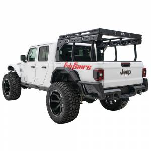 Fab Fours - Fab Fours JT20-Y1950-1 Rear Bumper with Sensor Holes for Jeep Gladiator JT 2020 - Image 6