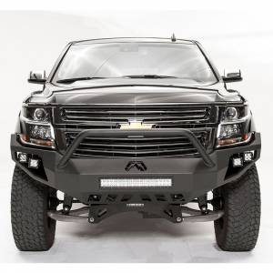 Fab Fours - Fab Fours CS15-D3552-1 Vengeance Front Bumper with Pre-Runner Guard and Sensor Holes for Chevy Suburban 2015-2019 - Image 2
