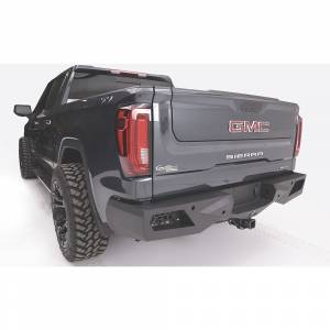Fab Fours - Fab Fours CS19-E4051-1 Vengeance Rear Bumper with Sensor Holes for Chevy Silverado 1500 2019 - Image 3