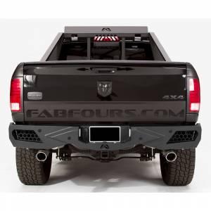 Fab Fours - Fab Fours DR09-E2951-1 Vengeance Rear Bumper with Sensor Holes for Dodge Ram 1500 2009-2018