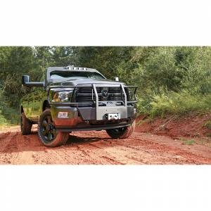 Exterior Accessories - Winch Mount | Hidden Winch Bumpers - Fab Fours - Fab Fours DR10-N2970-1 Winch Mount with Full Guard for Dodge Ram 2500/3500/4500/5500 2010-2018