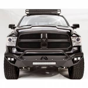 Dodge Ram 2500/3500 - Dodge RAM 2500/3500 2010-2018 Old Body - Fab Fours - Fab Fours DR13-D2952-1 Vengeance Front Bumper with Pre-Runner Guard and Sensor Holes for Dodge Ram 1500 2013-2018