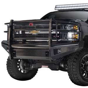 Fab Fours - Fab Fours DR13-K2960-1 Black Steel Front Bumper with Full Grille Guard for Dodge Ram 1500 2013-2018 - Image 2