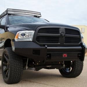 Fab Fours - Fab Fours DR13-K2961-1 Black Steel Front Bumper for Dodge Ram 1500 2013-2018 - Image 3