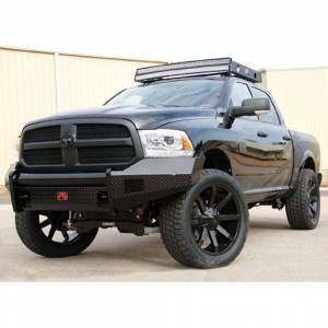 Fab Fours - Fab Fours DR13-K2961-1 Black Steel Front Bumper for Dodge Ram 1500 2013-2018 - Image 4