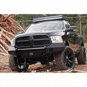 Fab Fours - Fab Fours DR13-K2961-1 Black Steel Front Bumper for Dodge Ram 1500 2013-2018 - Image 5