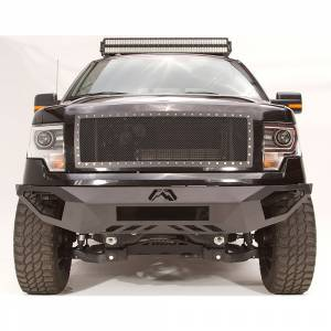 Fab Fours - Fab Fours FF09-D1951-1 Vengeance Front Bumper with Sensor Holes for Ford F150 2009-2014