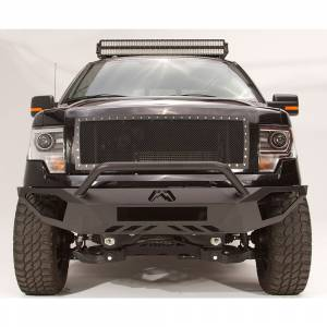 Fab Fours - Fab Fours FF09-D1952-1 Vengeance Front Bumper with Pre-Runner Guard and Sensor Holes for Ford F150 2009-2014