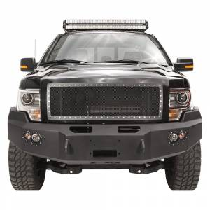 Fab Fours - Fab Fours FF09-H1951-1 Winch Front Bumper for Ford F150 2009-2014